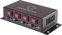 USB nabíječka Renkforce 7 A, černá