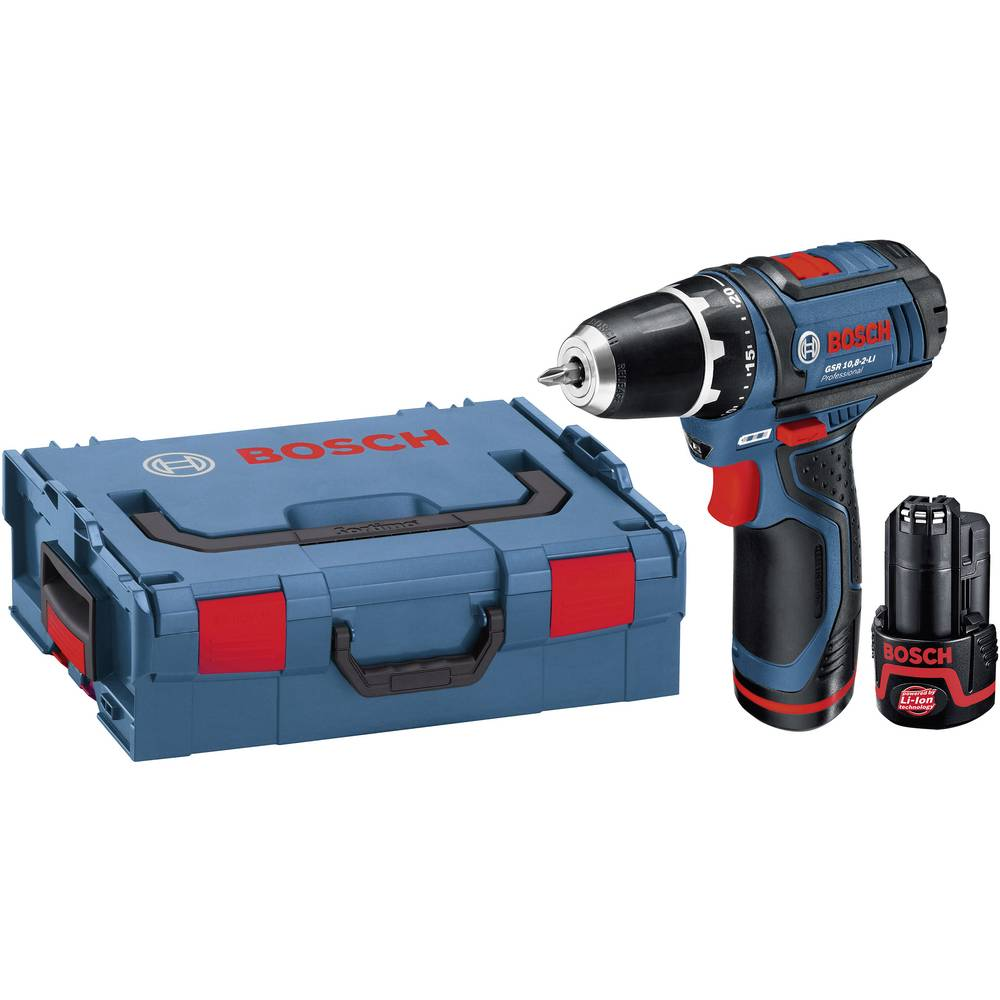 bosch professional gsr 10 8 2 li cordless drill 10 8 v 1 5 ah li ion incl spare battery incl. Black Bedroom Furniture Sets. Home Design Ideas
