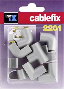 Conduite de câble cablefix 3210_grau jonction gris 10 pc(s)