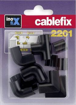 Image of cablefix 3210_schwarz Kabelkanal Stoß-Stellenverbindung 10 St. Schwarz