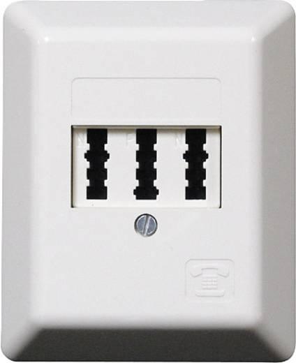 Telefondose NFN-Kodierung Aufputz Weiß