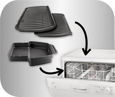elektro kontakt grill tefal optigrill automatische temperaturanpassung edelstahl geb rstet. Black Bedroom Furniture Sets. Home Design Ideas