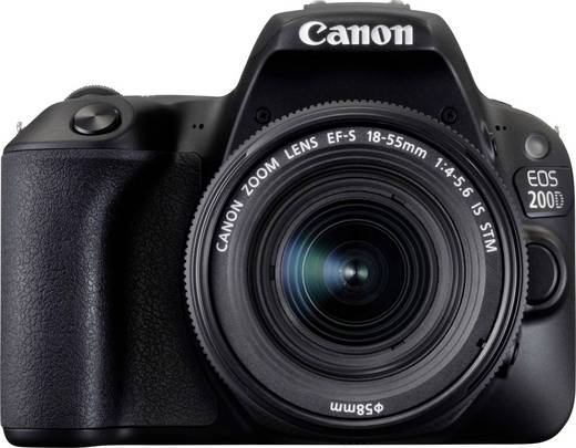 digitale spiegelreflexkamera canon eos 200d ef s 18 55 mm is stm 24 2 mio pixel schwarz. Black Bedroom Furniture Sets. Home Design Ideas