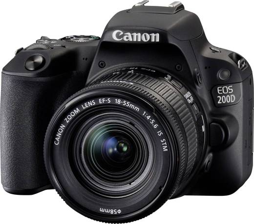 canon eos 200d digitale spiegelreflexkamera ef s 18 55 mm is stm 24 2 mio pixel schwarz. Black Bedroom Furniture Sets. Home Design Ideas
