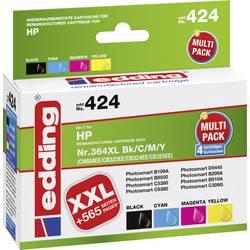 Kompatibilná sada náplní do tlačiarne Edding edding 424 EDD-424, čierna, zelenomodrá, purpurová, žltá