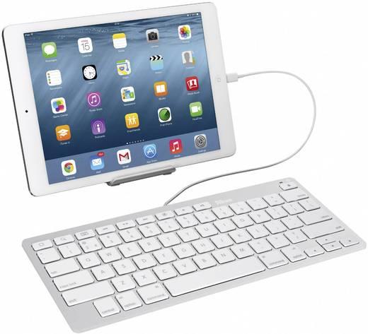 trust multimedia ipad iphone usb tastatur silber wei. Black Bedroom Furniture Sets. Home Design Ideas