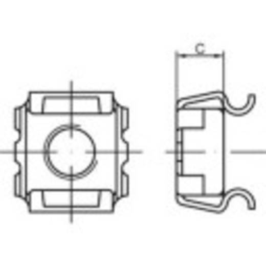 Käfigmuttern M10 Stahl galvanisch verzinkt 1000 St. TOOLCRAFT 159338