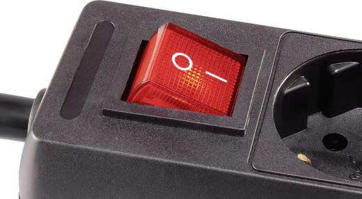 Steckdosenleiste mit Schalter 3fach Schwarz Schutzkontakt Kabellänge: 1.40 m Basetech 1593790