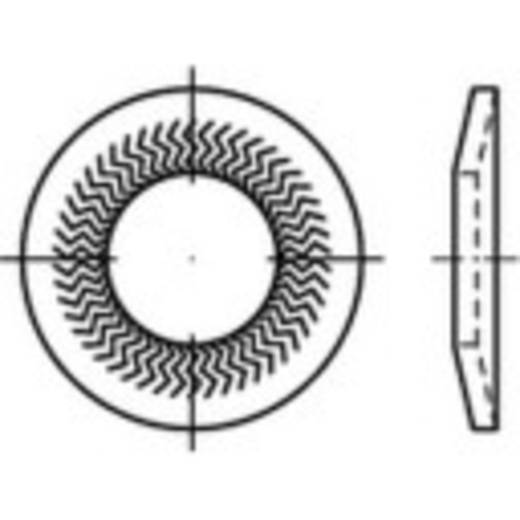 159389 Sperrkantscheiben Innen-Durchmesser: 4 mm Federstahl verzinkt 250 St.
