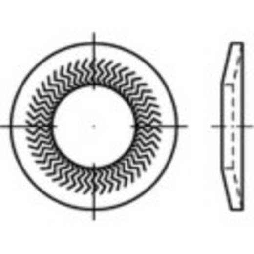 Sperrkantscheiben Innen-Durchmesser: 4 mm Federstahl verzinkt 250 St. 159389