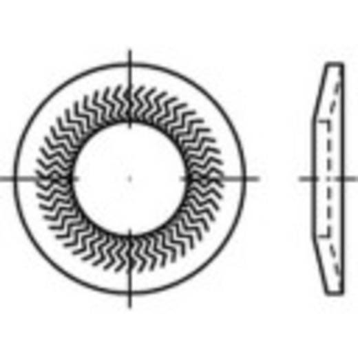 Sperrkantscheiben Innen-Durchmesser: 4 mm Federstahl verzinkt 250 St. 159396