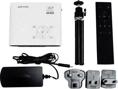 Videoproiettore DLP Aiptek AN 100 Luminosità: 100 lm 854 x 480 WVGA 1000 : 1 Bianco