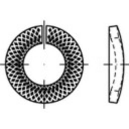 TOOLCRAFT 159462 Sperrkantringe Innen-Durchmesser: 12.7 mm Federstahl verzinkt 1000 St.