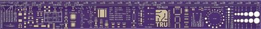PCB Lineal Magenta 1 St. PCB RULER TRU COMPONENTS (L x B x H) 300 x 34 x 1 mm