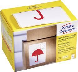 Etiquettes d'avertissement Avery-Zweckform 7252 74 x 100 mm papier rouge 200 pc(s)