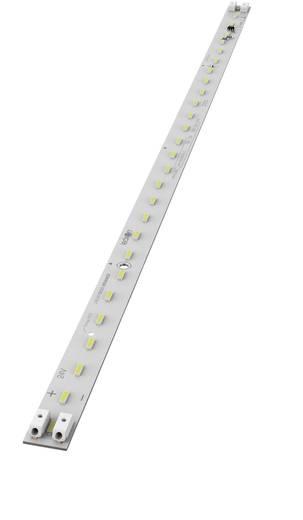 LED-Lichtleiste mit Käfigzugfedern an beiden Enden