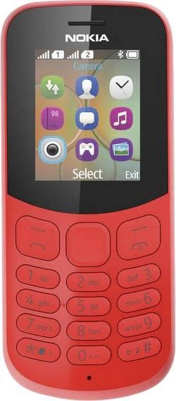 Nokia 130 mobilní telefon Dual SIM červená