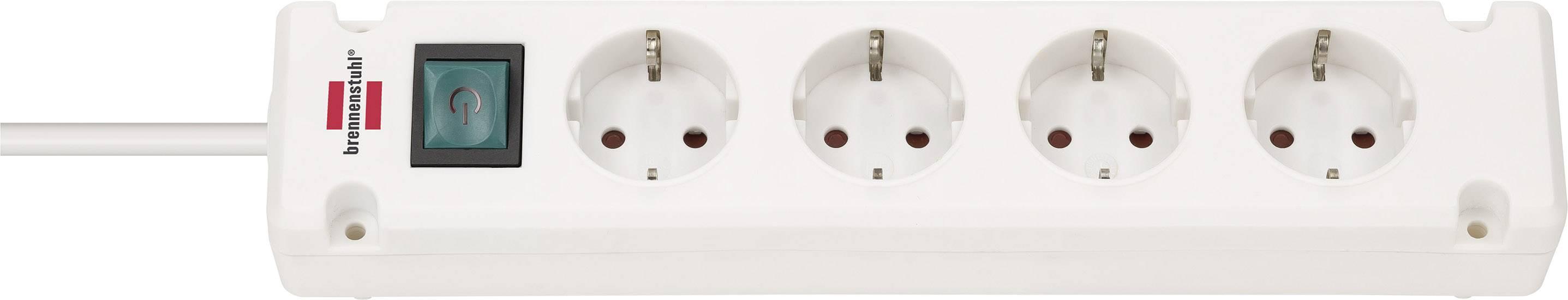 7 Steckdosen weiß Brennenstuhl Steckdosenleiste mit Schalter 1,4 m