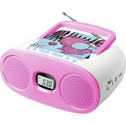Detský CD prehrávač Muse M-23 KDG AUX, CD, UKW, USB ružová