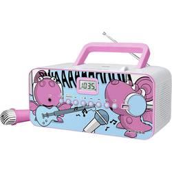 Detský CD prehrávač Muse M-29 KDG CD, UKW, USB vr. mikrofónu, ružová