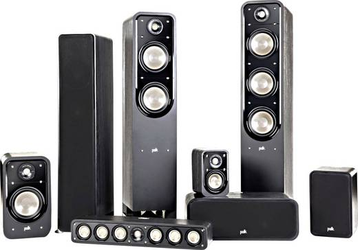 Polk Audio Signature S55 Standlautsprecher Schwarz 200 W 32 - 40000 Hz 1 St.