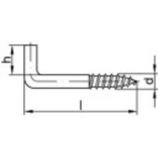 TOOLCRAFT Gerade Schraubhaken 80 mm Stahl galvanisch verzinkt 100 St.