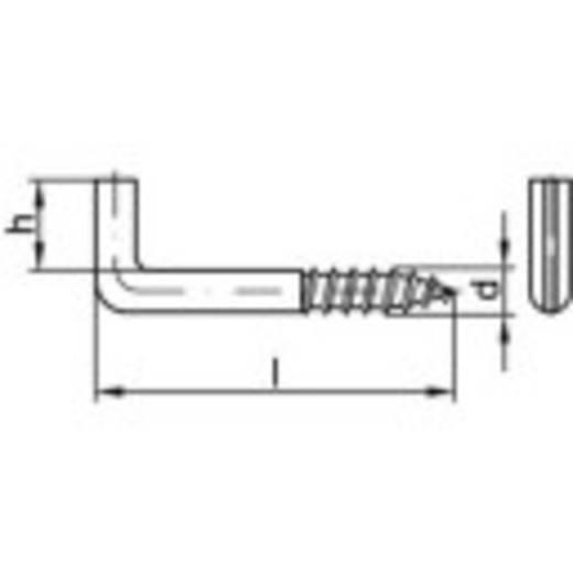 TOOLCRAFT Schlitzschraubhaken 80 mm Stahl galvanisch verzinkt 100 St.