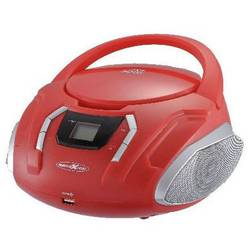 FM rádio s CD prehrávačom Reflexion CDR225OU, AUX, CD, UKW, USB, červená