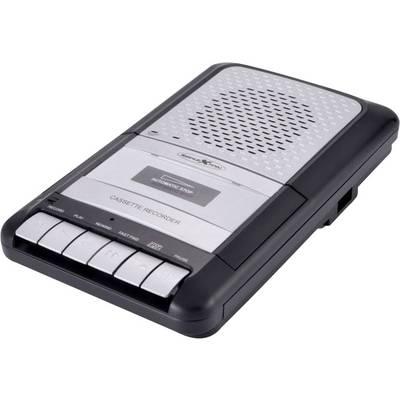 Reflexion CCR8010 Tragbarer Kassettenspieler Aufnahmefunktion Schwarz, Grau