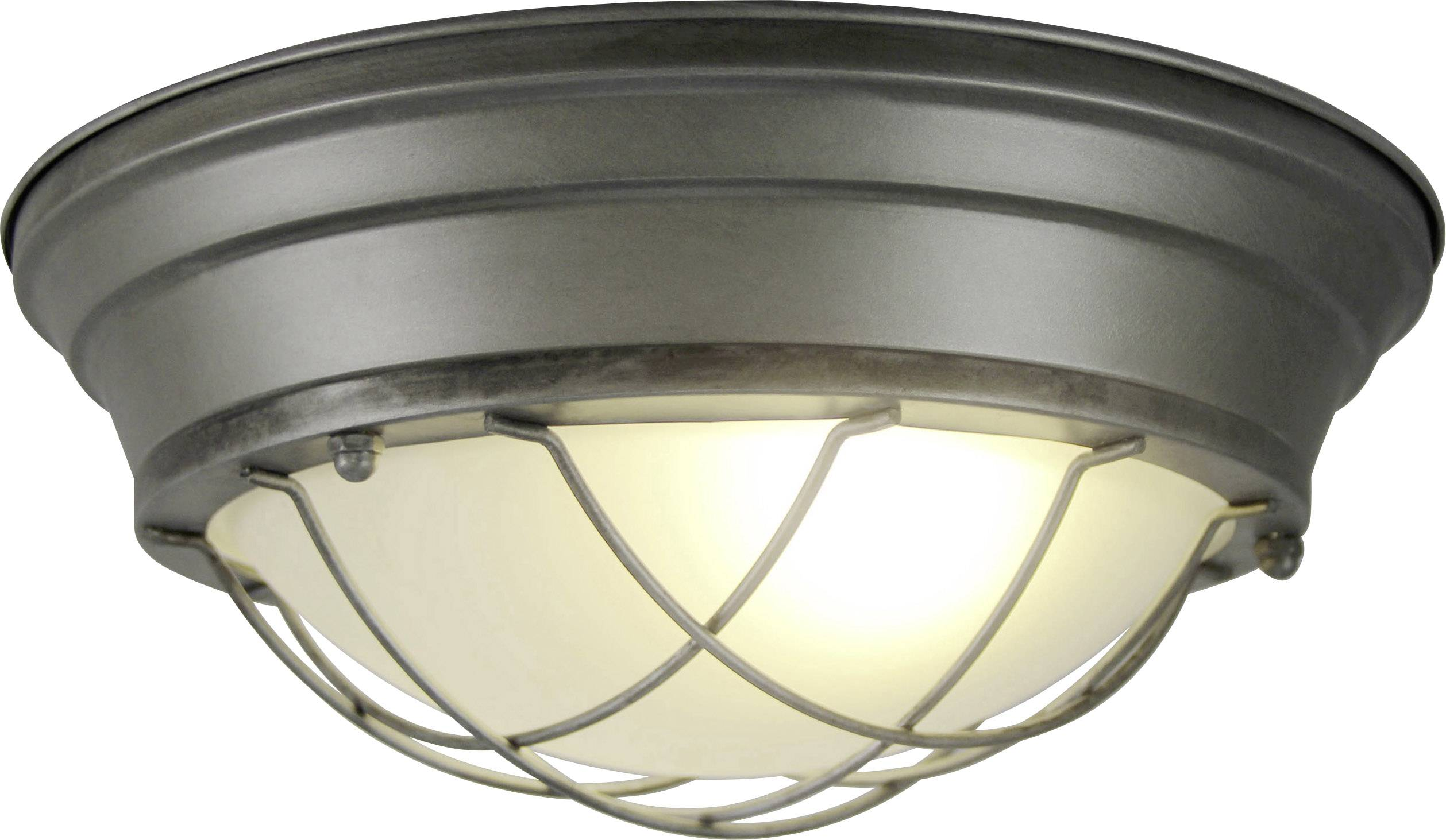 Deckenleuchte led e w brilliant typhoon metal brushed