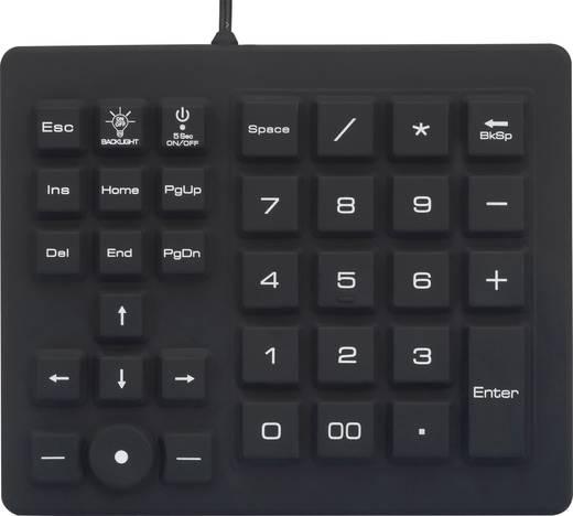 Renkforce iM-IKB720BL-BK USB-Tastatur, Ziffernblock, Maus-Set Integrierter Trackball, Staubgeschützt, Spritzwassergeschü