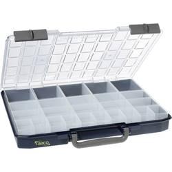 Kufřík na součástky raaco, CarryLite 55 5x10-25/2, 136273, přihrádek: 25, 413 x 57 x 330, modrá