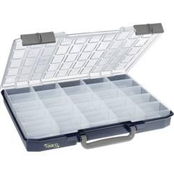 Kufřík na součástky raaco, CarryLite 55 5x10-25/1, 136297, přihrádek: 25, 413 x 57 x 330, modrá