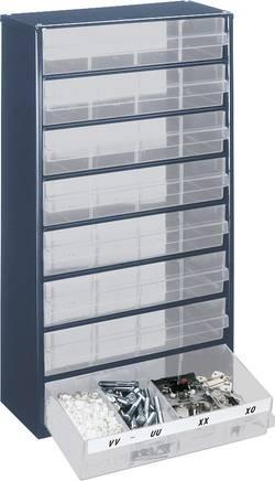 Zásuvková skříň raaco, 1208-03, 137416, přihrádek: 8, 306 x 150 x 552 , modrá, transparentní