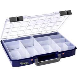 Kufřík na součástky raaco, CarryLite 55 4x8-16, 143615, přihrádek: 16, 337 x 278 x 57 , modrá, transparentní