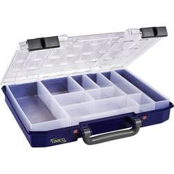 Kufřík na součástky raaco, CarryLite 55 4x8-10, 144568, přihrádek: 10, 337 x 278 x 57 , modrá, transparentní