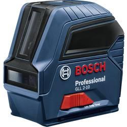 Krížová vodováha laserová samonivelačná, vr. tašky Bosch Professional GLL 2-10, Dosah (max.): 10 m, Kalibrované podľa: bez certifikátu