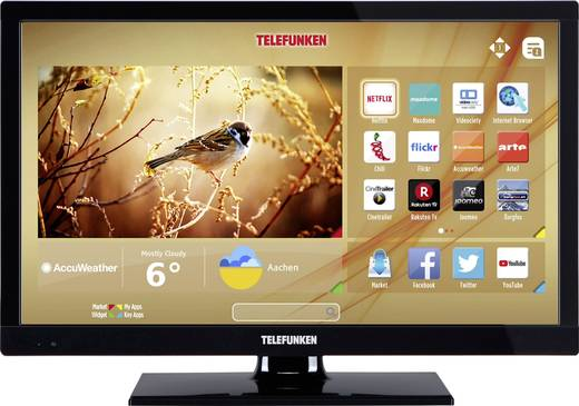 led tv 61 cm 24 zoll telefunken b24h345a eek a dvb t2. Black Bedroom Furniture Sets. Home Design Ideas