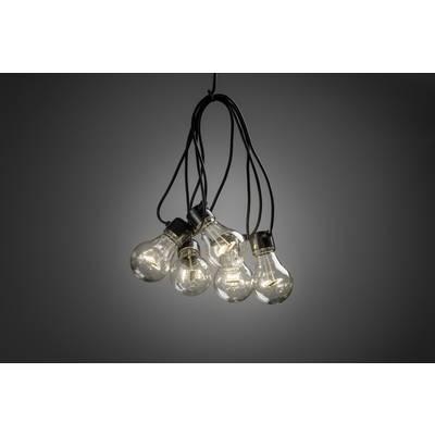 Konstsmide 2372-100 Party-Lichterkette Außen batteriebetrieben 5 + 40 Glühlampe, LED Klar, Preisvergleich