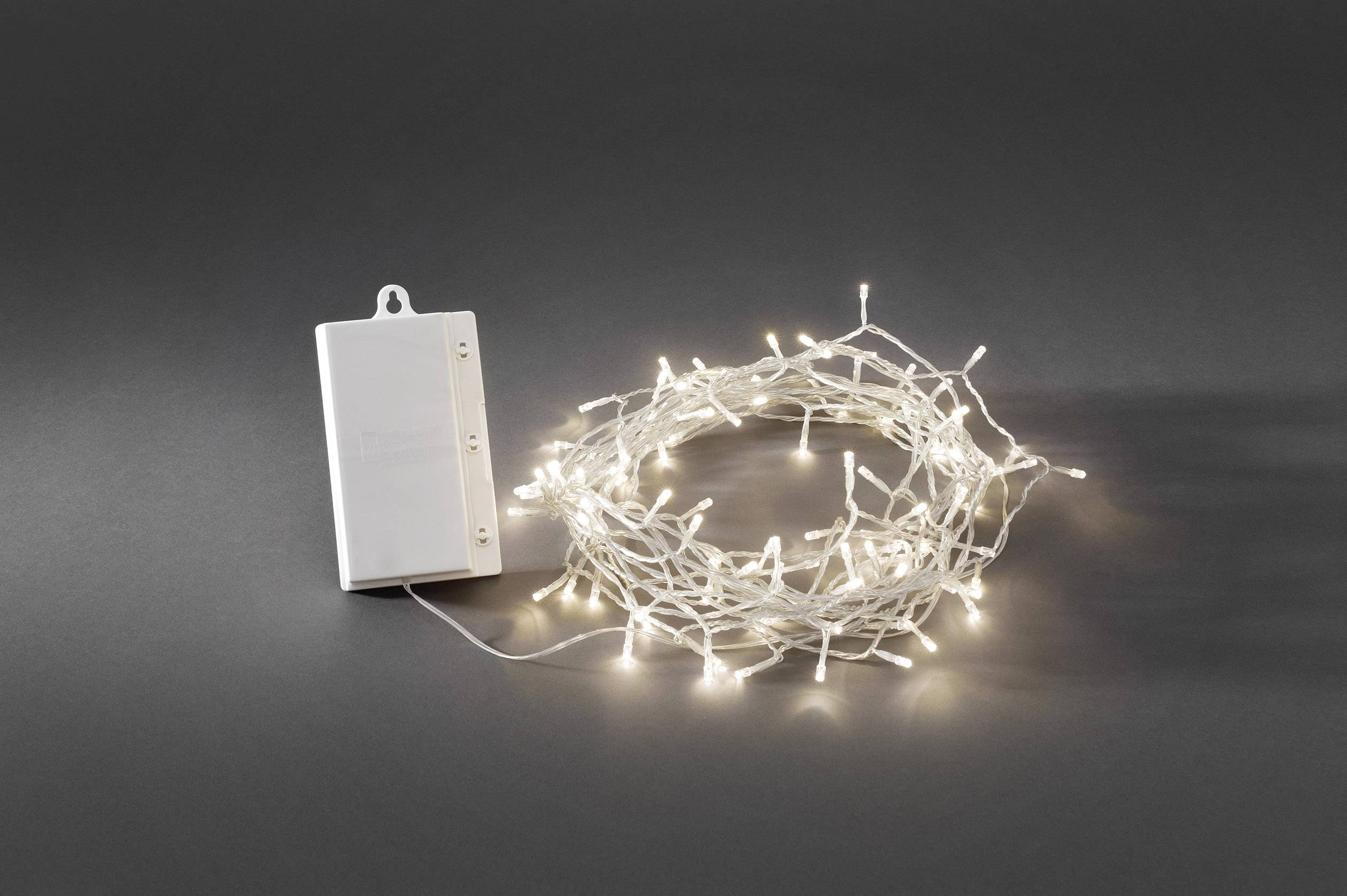 Batterie Weihnachtsbeleuchtung Aussen.Konstsmide 3719 103 Lichterketten Mit Batterien Außen Batteriebetrieben 128 Led Warm Weiß Beleuchtete Länge 12 8 M