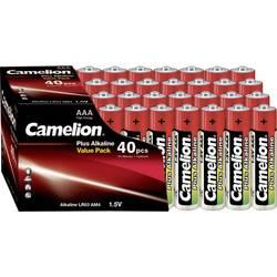 Mikrotužková batérie typu AAA alkalicko-mangánová Camelion Plus LR03, 1250 mAh, 1.5 V, 40 ks