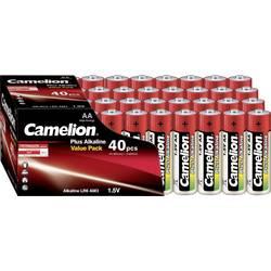 Tužková batéria typu AA alkalicko-mangánová Camelion Plus LR06, 1.5 V, 40 ks