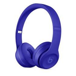 Ecouteurs Bluetooth supra-aural Beats Solo 3 Neighborhood pliable, micro-casque bleu
