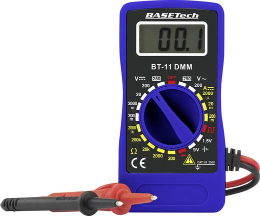 Basetech BT-11 Hand-Multimeter digital CAT III 250 V Anzeige (Counts): 2000
