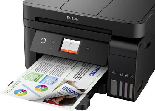 Epson EcoTank ET-4750 Tintenstrahl-Multifunktionsdrucker A4 Drucker, Scanner, Kopierer, Fax LAN, WLAN, ADF, Duplex, Tint