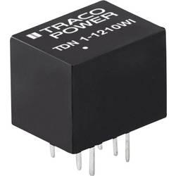 DC / DC menič napätia, DPS TracoPower TDN 1-1212WI, 12 V/DC, +12 V/DC, 90 mA, 1 W