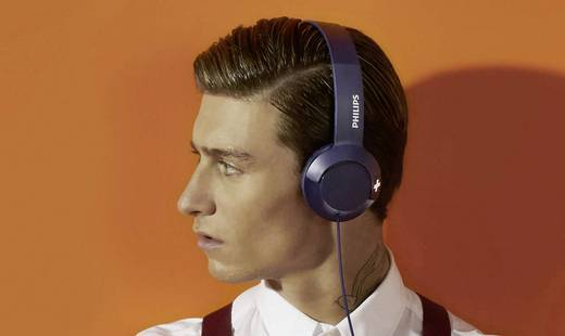 Philips SHL3075BL Kopfhörer On Ear Headset, Faltbar Blau