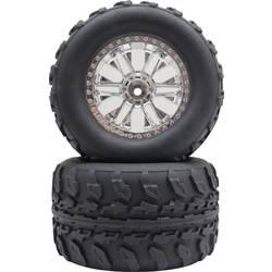 Kompletní kola Reely 1600281 pro monster truck, 125 mm, 1:10, 2 ks, stříbrná