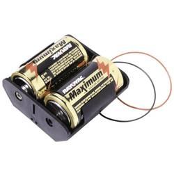 Batériový držák na 2x mono (Typ D) MPD BH2DW, kábel, (d x š x v) 71 x 71 x 31 mm