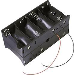 Batériový držák na 8x mono (Typ D) MPD BH48DW, kábel, (d x š x v) 138 x 72 x 57 mm